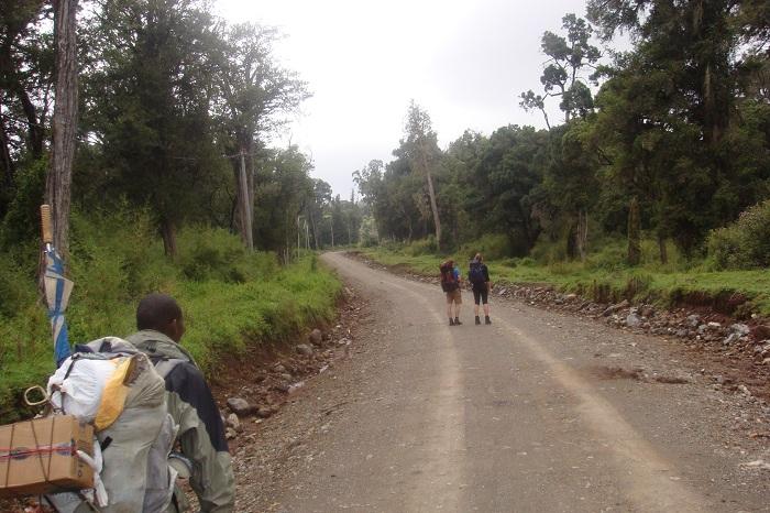 mount Kenya hiking, walking, trekking routes, yha Kenya travel