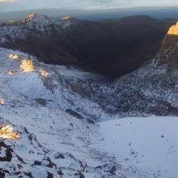 Mount Kenya snow in valley