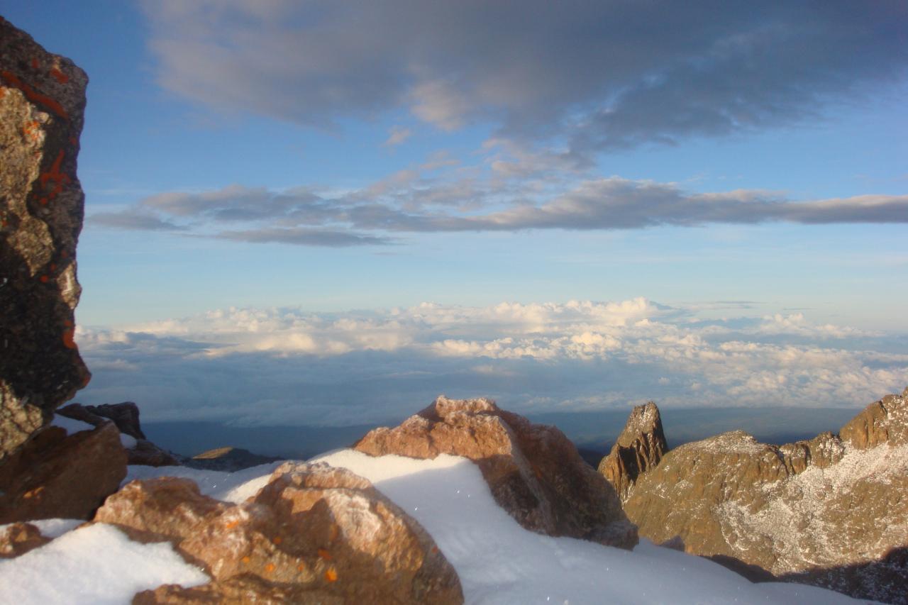 Mount Kenya Top Snow Peaks