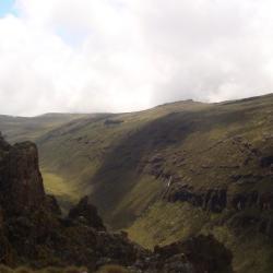 climbing Mount Kenya in Kenya,