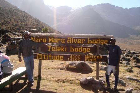 Mount Kenya Climbers at the Base of climbing