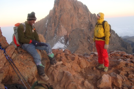Climbers at the summit-YHA Kenya Travel Budget Adventure Tour