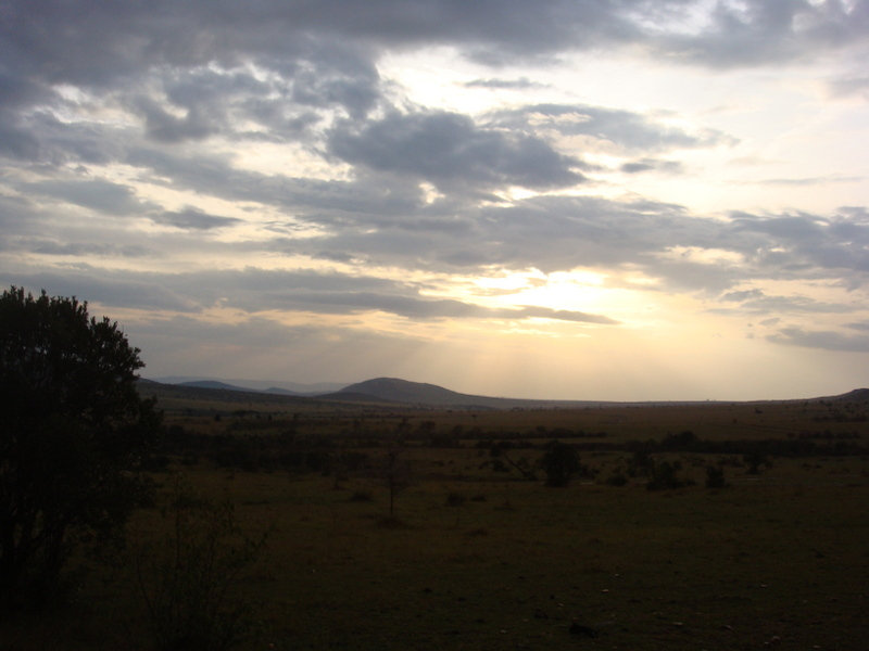 Masai Mara National Game Reserve Sun Set