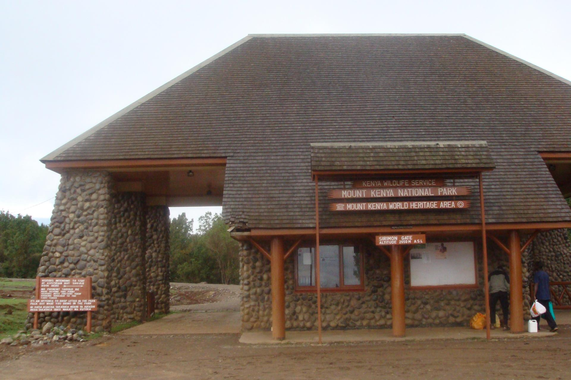 Main Mount Kenya Entrance Gate