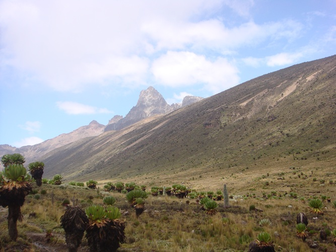 Hiking to Mount kenya Summit Peaks