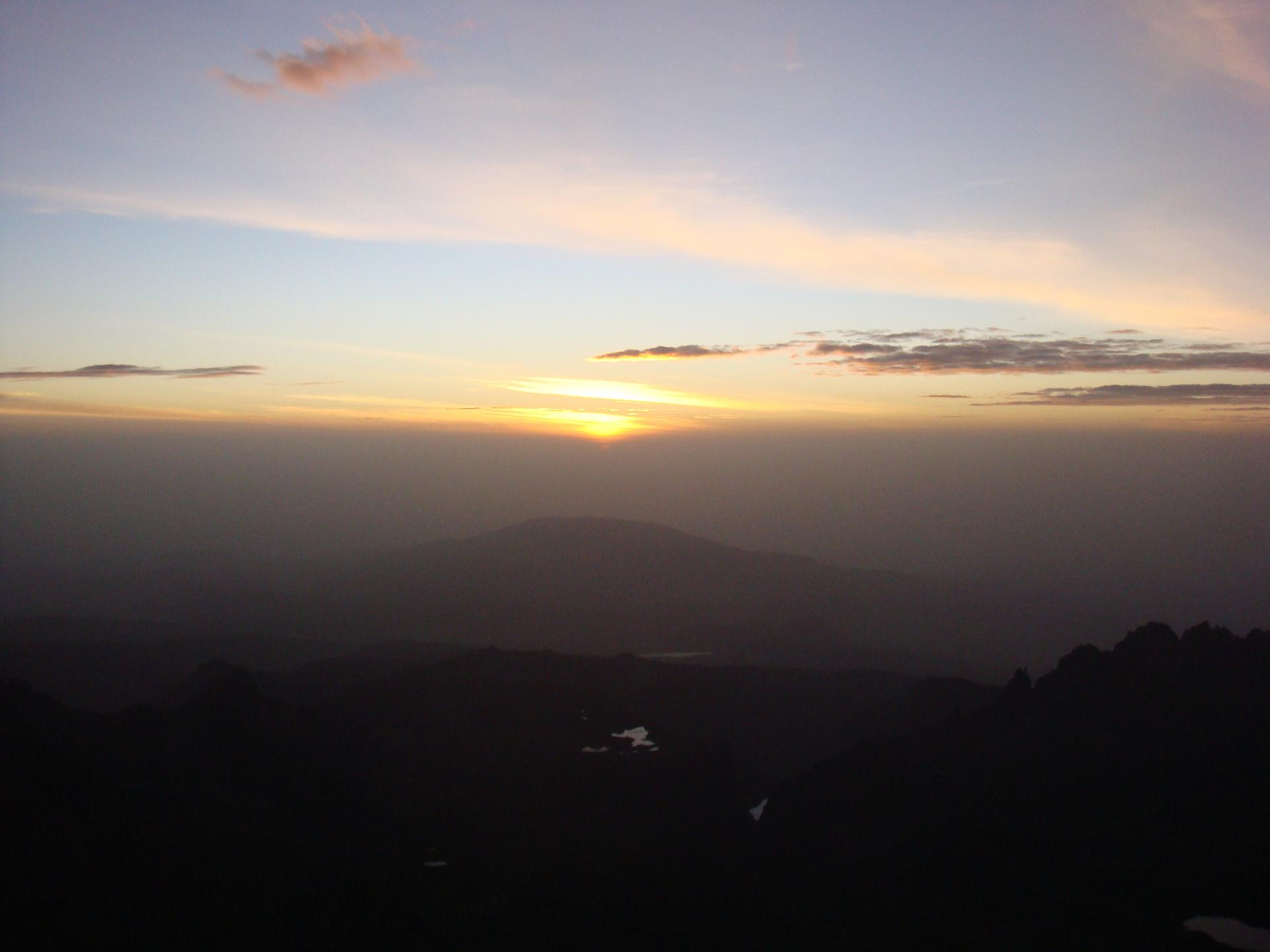 Mount kenya climb Sun rise views-mountain climbing